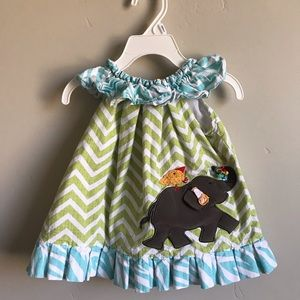 Mud pie Girls elephant dress